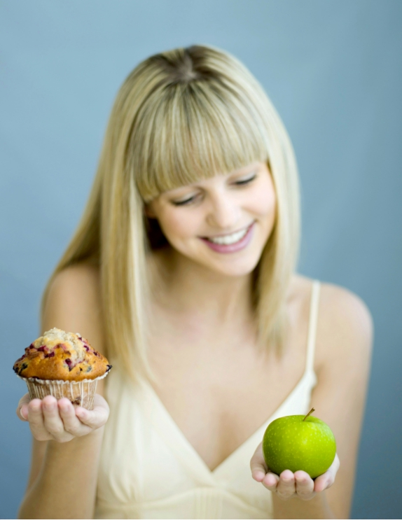 keuze gezond of ongezond eten